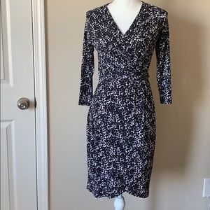 New wrap 3/4 sleeves dress